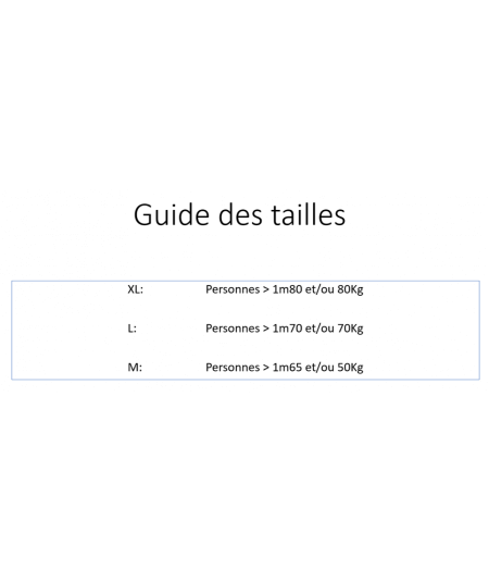 Guide des tailles Frogmask