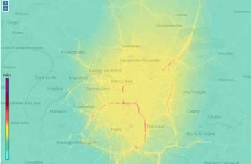 Carte pollution journalière Airparif