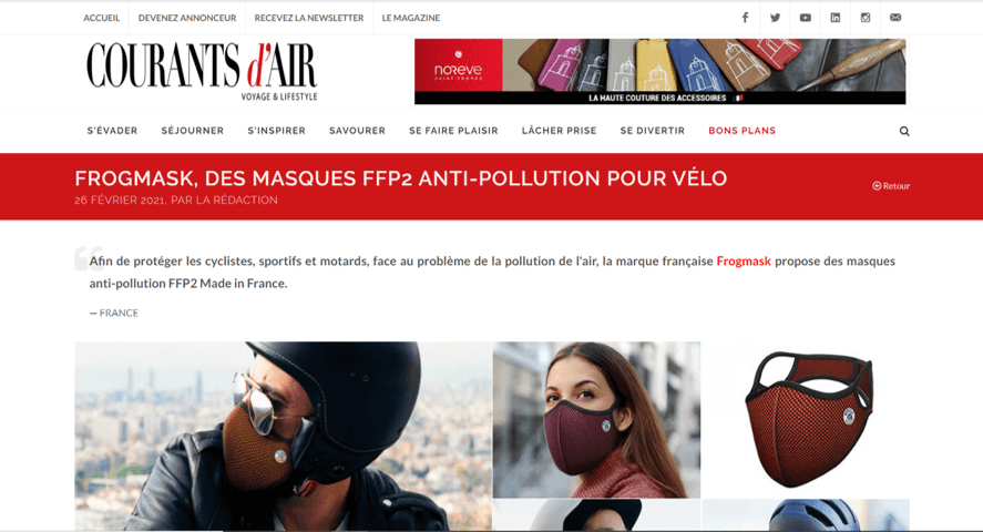 article frogmask courants d'air